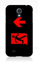 Running Man Exit Sign Samsung Galaxy Mobile Phone Case 159