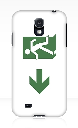 Running Man Exit Sign Samsung Galaxy Mobile Phone Case 16
