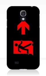 Running Man Exit Sign Samsung Galaxy Mobile Phone Case 160