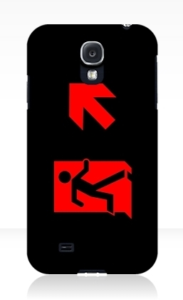 Running Man Exit Sign Samsung Galaxy Mobile Phone Case 161