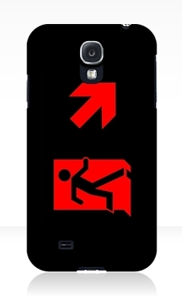 Running Man Exit Sign Samsung Galaxy Mobile Phone Case 162