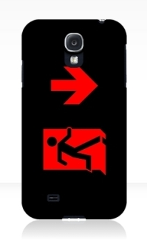 Running Man Exit Sign Samsung Galaxy Mobile Phone Case 163