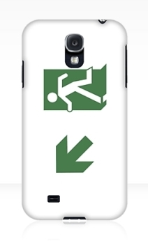 Running Man Exit Sign Samsung Galaxy Mobile Phone Case 17