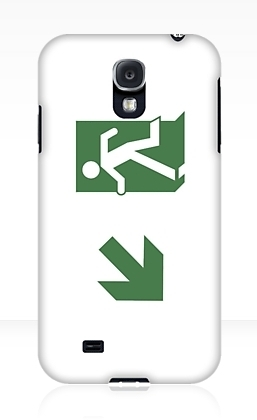 Running Man Exit Sign Samsung Galaxy Mobile Phone Case 18