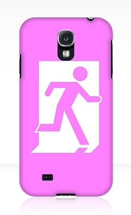 Running Man Exit Sign Samsung Galaxy Mobile Phone Case 2