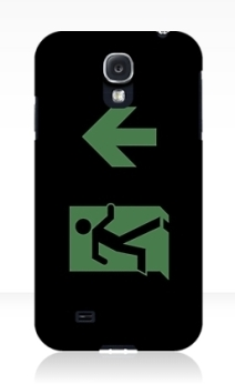 Running Man Exit Sign Samsung Galaxy Mobile Phone Case 21