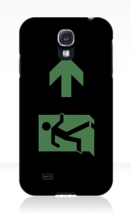 Running Man Exit Sign Samsung Galaxy Mobile Phone Case 22
