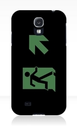 Running Man Exit Sign Samsung Galaxy Mobile Phone Case 23