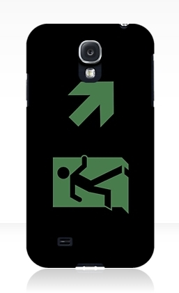 Running Man Exit Sign Samsung Galaxy Mobile Phone Case 25