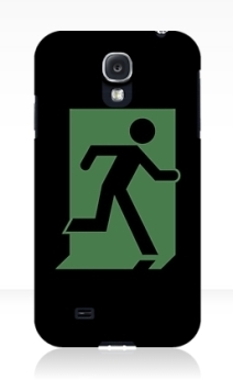 Running Man Exit Sign Samsung Galaxy Mobile Phone Case 27