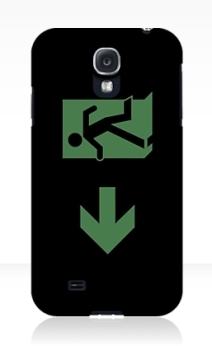 Running Man Exit Sign Samsung Galaxy Mobile Phone Case 29