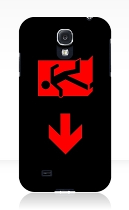 Running Man Exit Sign Samsung Galaxy Mobile Phone Case 3