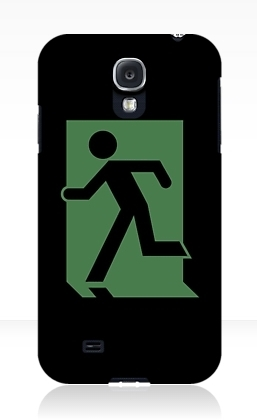 Running Man Exit Sign Samsung Galaxy Mobile Phone Case 33