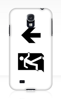 Running Man Exit Sign Samsung Galaxy Mobile Phone Case 34