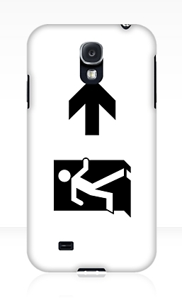 Running Man Exit Sign Samsung Galaxy Mobile Phone Case 36