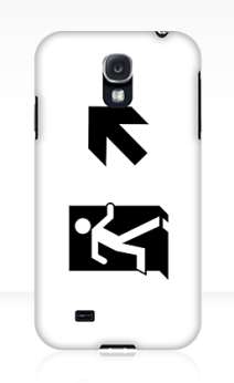 Running Man Exit Sign Samsung Galaxy Mobile Phone Case 37