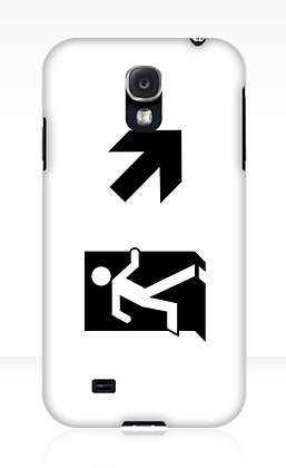 Running Man Exit Sign Samsung Galaxy Mobile Phone Case 38