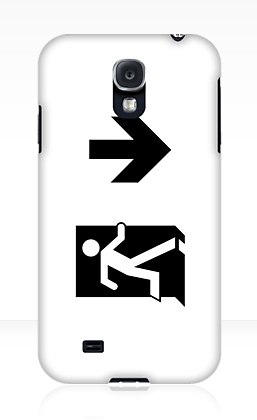 Running Man Exit Sign Samsung Galaxy Mobile Phone Case 39