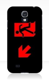 Running Man Exit Sign Samsung Galaxy Mobile Phone Case 4