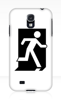 Running Man Exit Sign Samsung Galaxy Mobile Phone Case 40