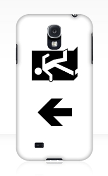 Running Man Exit Sign Samsung Galaxy Mobile Phone Case 41
