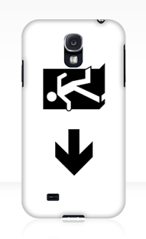 Running Man Exit Sign Samsung Galaxy Mobile Phone Case 42
