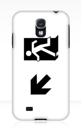 Running Man Exit Sign Samsung Galaxy Mobile Phone Case 43