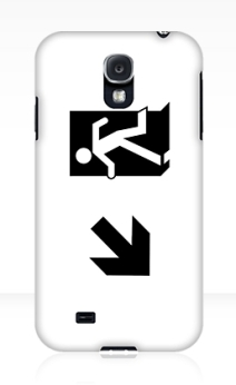 Running Man Exit Sign Samsung Galaxy Mobile Phone Case 44