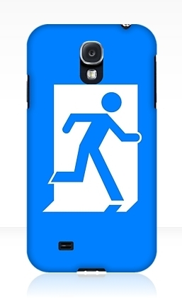 Running Man Exit Sign Samsung Galaxy Mobile Phone Case 45