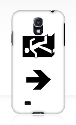 Running Man Exit Sign Samsung Galaxy Mobile Phone Case 46