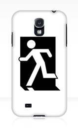 Running Man Exit Sign Samsung Galaxy Mobile Phone Case 47