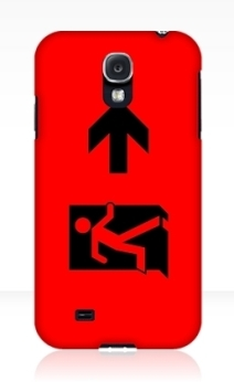 Running Man Exit Sign Samsung Galaxy Mobile Phone Case 49