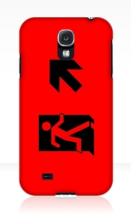 Running Man Exit Sign Samsung Galaxy Mobile Phone Case 50