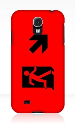 Running Man Exit Sign Samsung Galaxy Mobile Phone Case 51