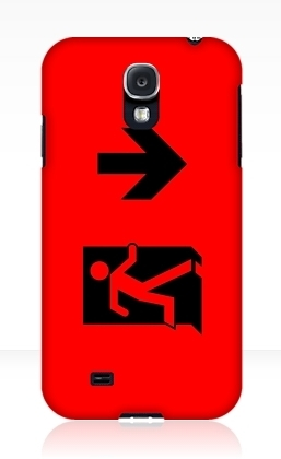 Running Man Exit Sign Samsung Galaxy Mobile Phone Case 52