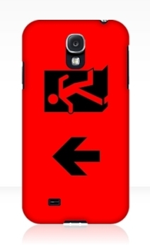 Running Man Exit Sign Samsung Galaxy Mobile Phone Case 54