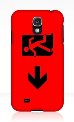 Running Man Exit Sign Samsung Galaxy Mobile Phone Case 55