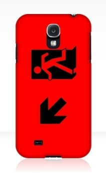 Running Man Exit Sign Samsung Galaxy Mobile Phone Case 57