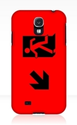 Running Man Exit Sign Samsung Galaxy Mobile Phone Case 58