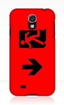 Running Man Exit Sign Samsung Galaxy Mobile Phone Case 59