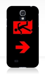 Running Man Exit Sign Samsung Galaxy Mobile Phone Case 6