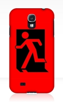 Running Man Exit Sign Samsung Galaxy Mobile Phone Case 60
