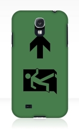 Running Man Exit Sign Samsung Galaxy Mobile Phone Case 62