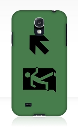 Running Man Exit Sign Samsung Galaxy Mobile Phone Case 63