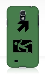 Running Man Exit Sign Samsung Galaxy Mobile Phone Case 64