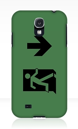 Running Man Exit Sign Samsung Galaxy Mobile Phone Case 65