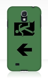 Running Man Exit Sign Samsung Galaxy Mobile Phone Case 66