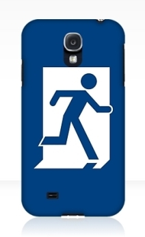 Running Man Exit Sign Samsung Galaxy Mobile Phone Case 67