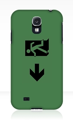 Running Man Exit Sign Samsung Galaxy Mobile Phone Case 68