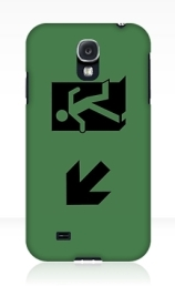 Running Man Exit Sign Samsung Galaxy Mobile Phone Case 69